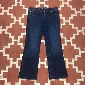 INC 10S bootleg curvy fit dark wash jeans